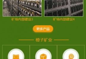 橙子矿业-手机网站开发